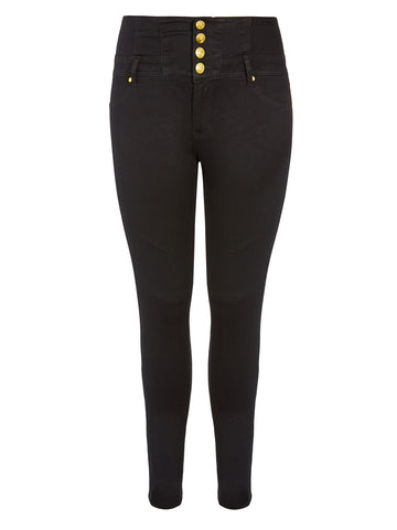 Corset Skinny Jean in Black