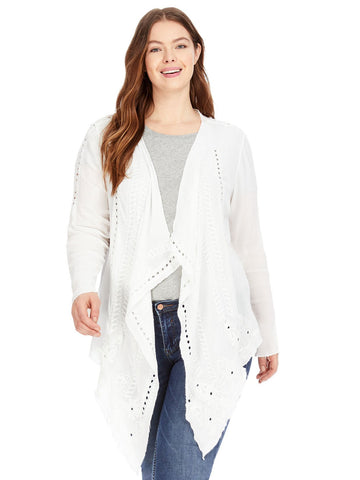 Long Sleeve White Cardigan