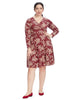 Red Holiday Floral Sarah Dress