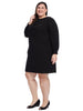 Bow Front Black Shift Dress