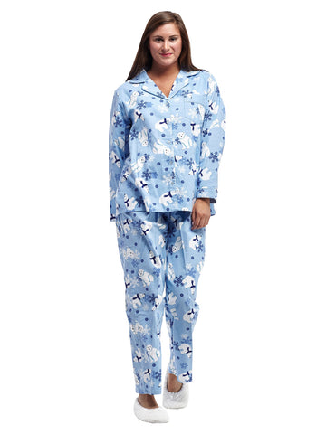 Polar Bear Flannel PJ Set
