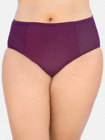 Diamond Net Panty In Aubergine