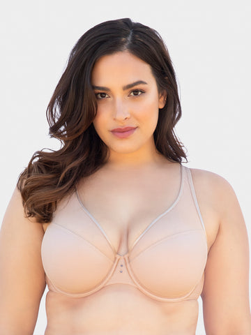 Diamond Net Bra In Bombshell Nude