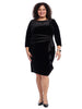 Gabrielle Combo Velvet With Satin Detail Dress