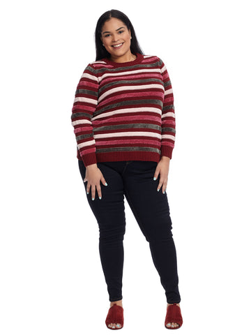 Chenille Textured Stripe Sweater