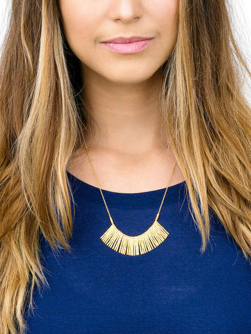 Kylie Fan Necklace In Gold