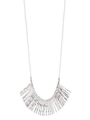 Kylie Fan Necklace In Silver