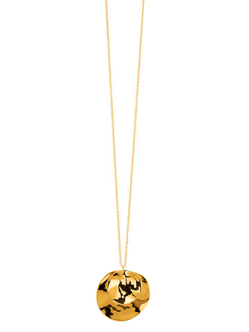 Chloe Double Pendant Adjustable Necklace In Gold