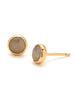 Power Gemstone Labradorite Studs In Gold