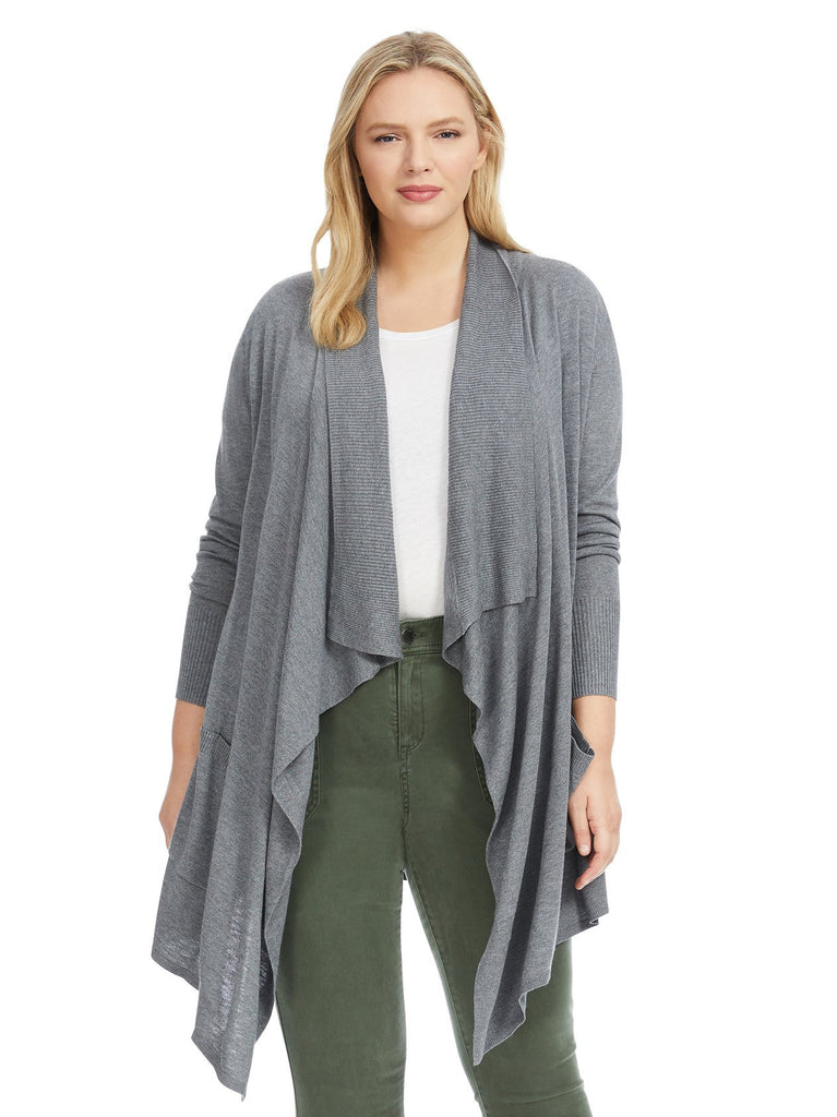 Cozy Waterfall Grey Cardigan