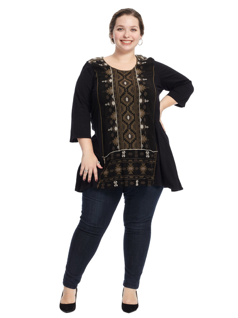 Embroidered Sharkbite Nomi Tunic