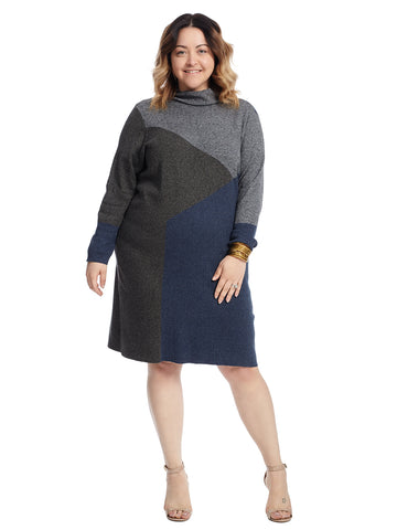Cowlneck Laid Back Sweater Dress