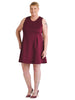 Walker Burgundy Dress