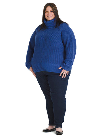 Roll Neck Electric Blue Sweater