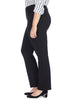 Black Marilyn Straight Ponte Pants