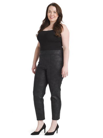 Black Coated Nia Pants