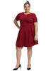Cable Knit Merlot Fit And Flare Dress