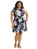 Floral Scuba Fit And Flare Dress