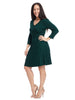 Surplice Hunter Sweater Dress