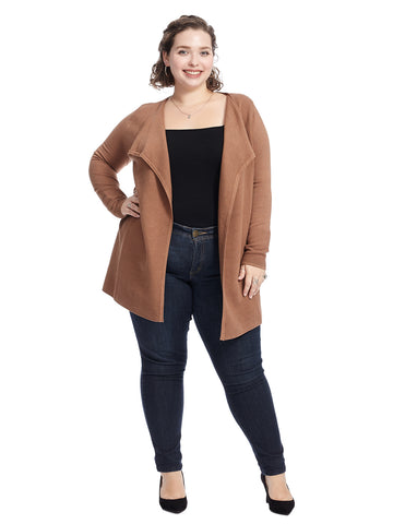 Toasted Coconut Ribbed Cardigan