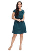 Blue Dot Fit And Flare Dress