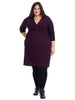 V-Neck Plum Dress