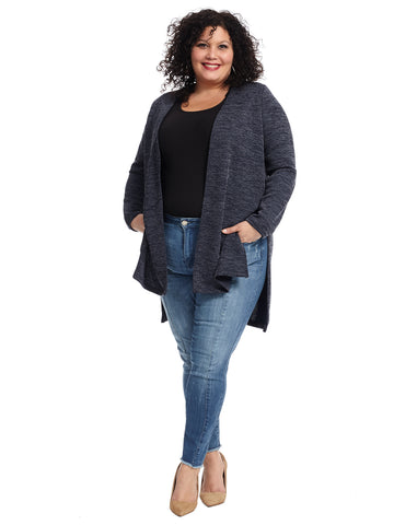 Elbow Patch Navy Cardigan