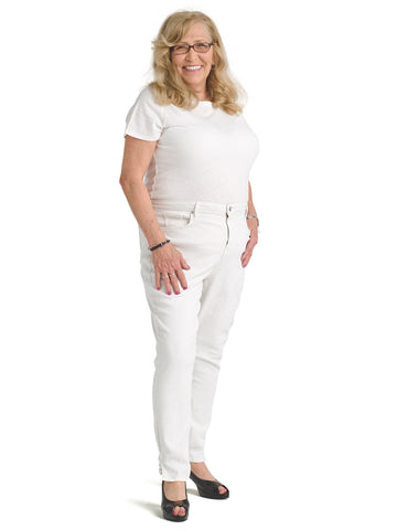 Optic White Ami Skinny Ankle Jeans