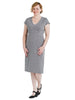 Grey Herringbone Sheath Dress