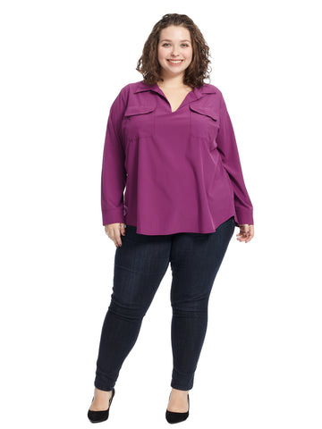 Iris Purple Dakota Top
