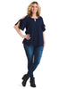 Cold Shoulder Navy Top