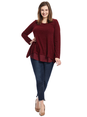 Layered Burgundy Top
