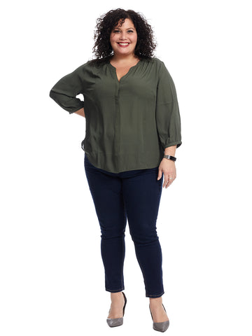 Solid Sugar Pine Pintuck Blouse