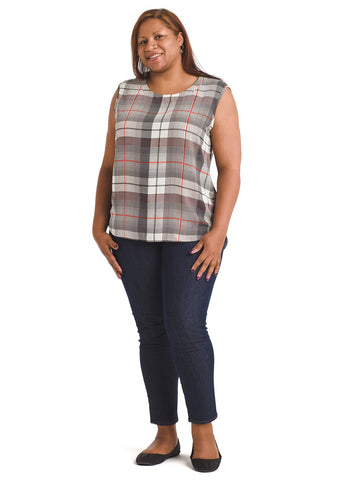 Plaid Sleeveless Top