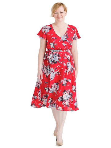 Fits of Bliss Midi Floral Wrap Dress
