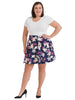 Purple Multi Floral Skirt