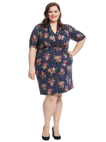 Faux Wrap Floral Diana Dress