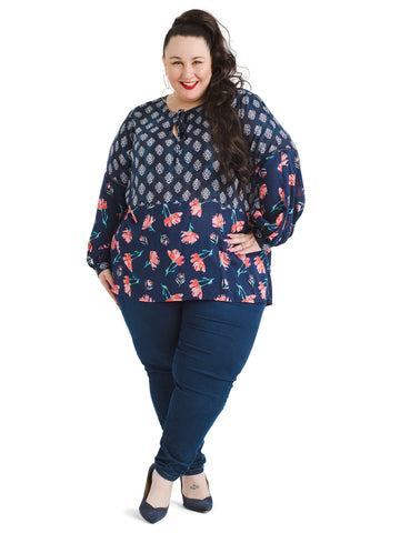 Midnight Combo Print Top