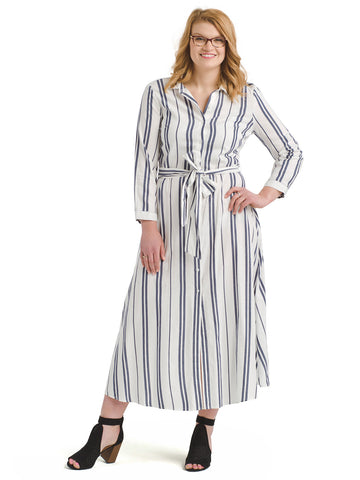 Valiant Striped Shirt Dress