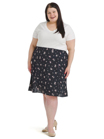 Doreen Floral And Dot Skirt