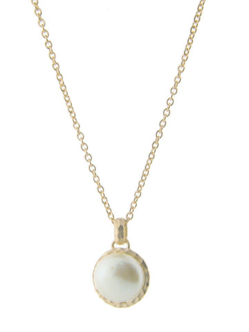 Delicate Golden Coin Pearl Necklace