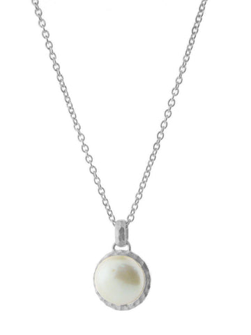 Delicate Coin Pearl Necklace