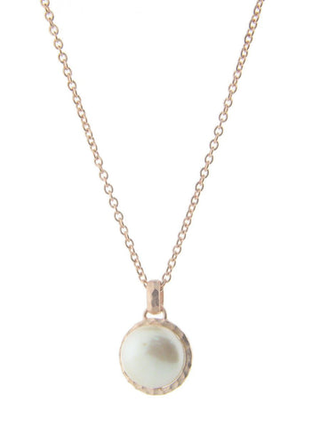 Delicate Rose Coin Pearl Necklace