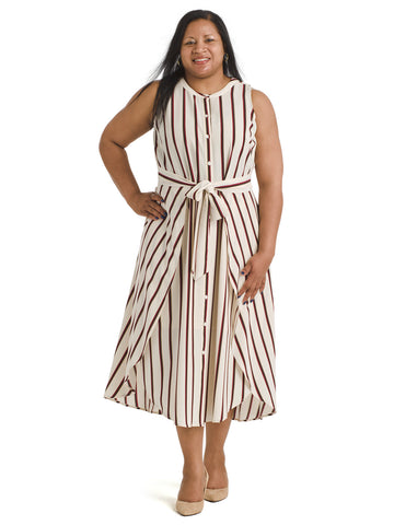 Caravan Stripe Tie Front Dress
