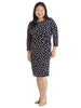 Dot Print Jersey Sheath Dress