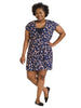 Navy Leopard True Wrap Dress