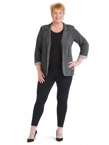 Knit Charcoal Tallie Blazer