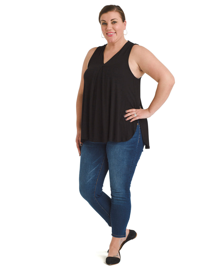 Pleated Black Aryn Top