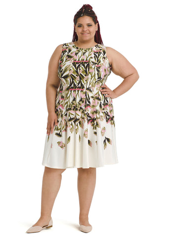 Mixed Floral Scuba Dress