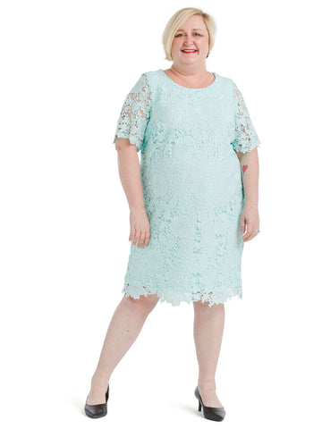 Mint Lace Shift Dress